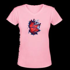 Women's V-Neck T-Shirt by Micah Johnson