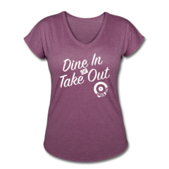 Women's V-Neck Tri-Blend T-Shirt by Jessica Schultz