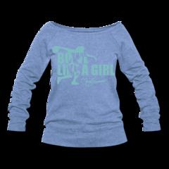 Women's Wideneck Sweatshirt by Clara Guerrero